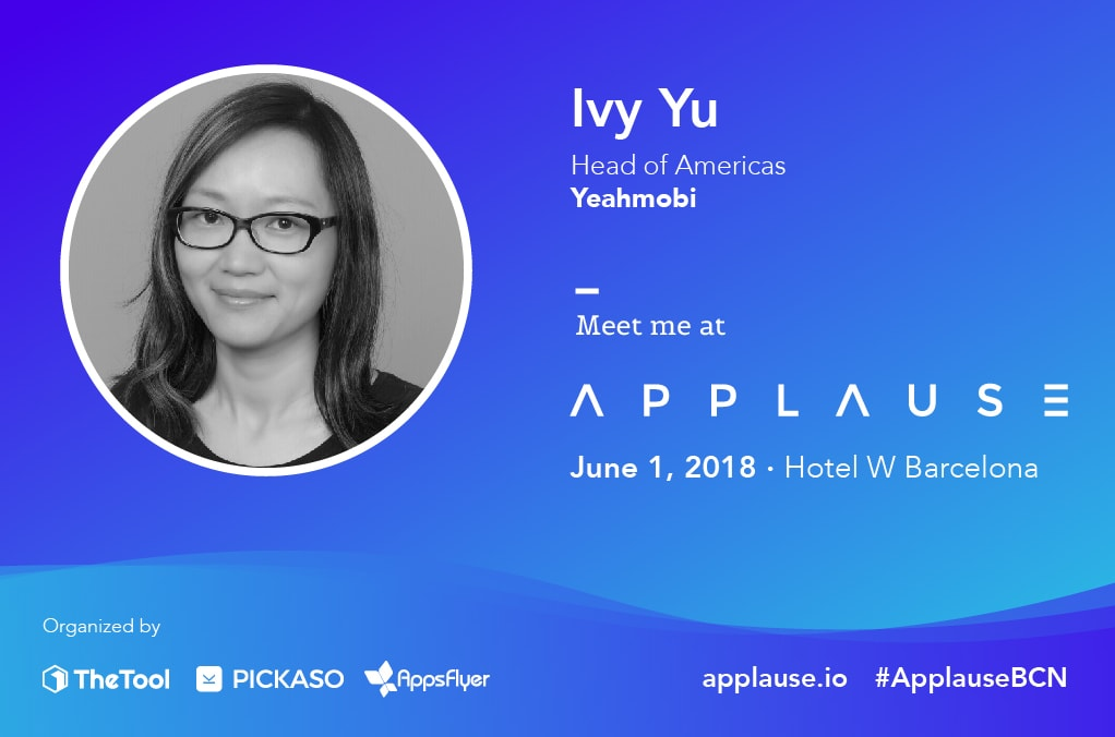 Ivy Yu Yeahmobi Applause 2018