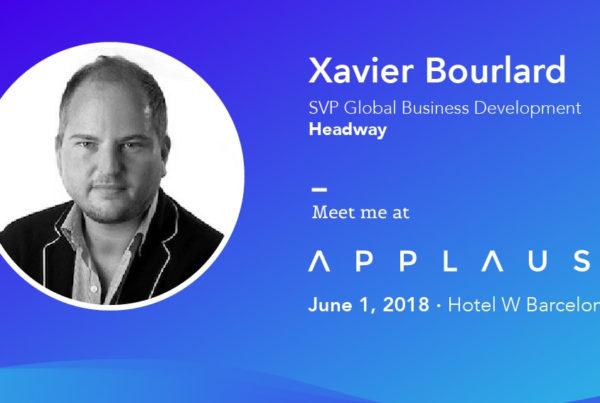 Xavier Bourlard Headway Applause 2018